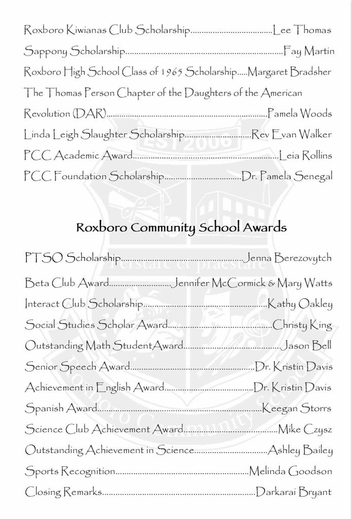 awards program